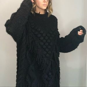 Zara over sized knit with tassels and detailing